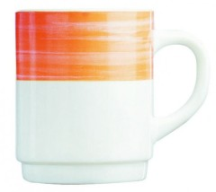 ambiente gastro serie brush orange kaffeebecher 25 cl arcopal hartglas. Black Bedroom Furniture Sets. Home Design Ideas