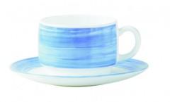 ambiente gastro serie brush blue gastronomie untertasse arcopal hartglas. Black Bedroom Furniture Sets. Home Design Ideas