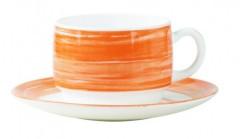 ambiente gastro serie brush orange gastronomie obertasse stapelbar 19 cl aus arcopal hartglas. Black Bedroom Furniture Sets. Home Design Ideas